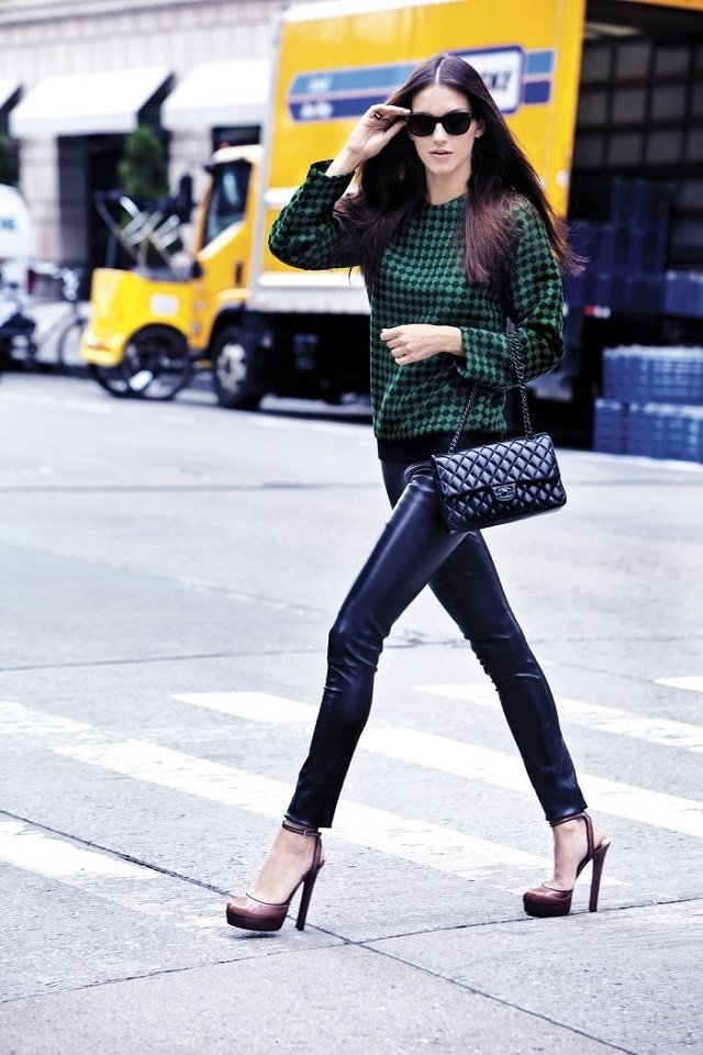 a/w 13-14 Street Style Inspirations: leather pants