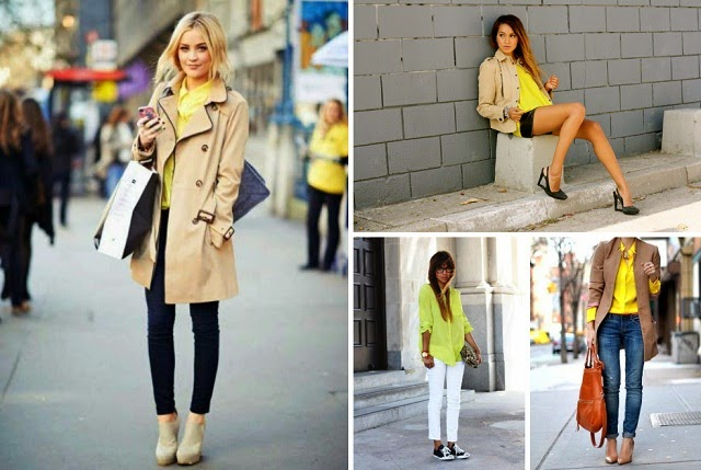 How to wear: yellow shirt