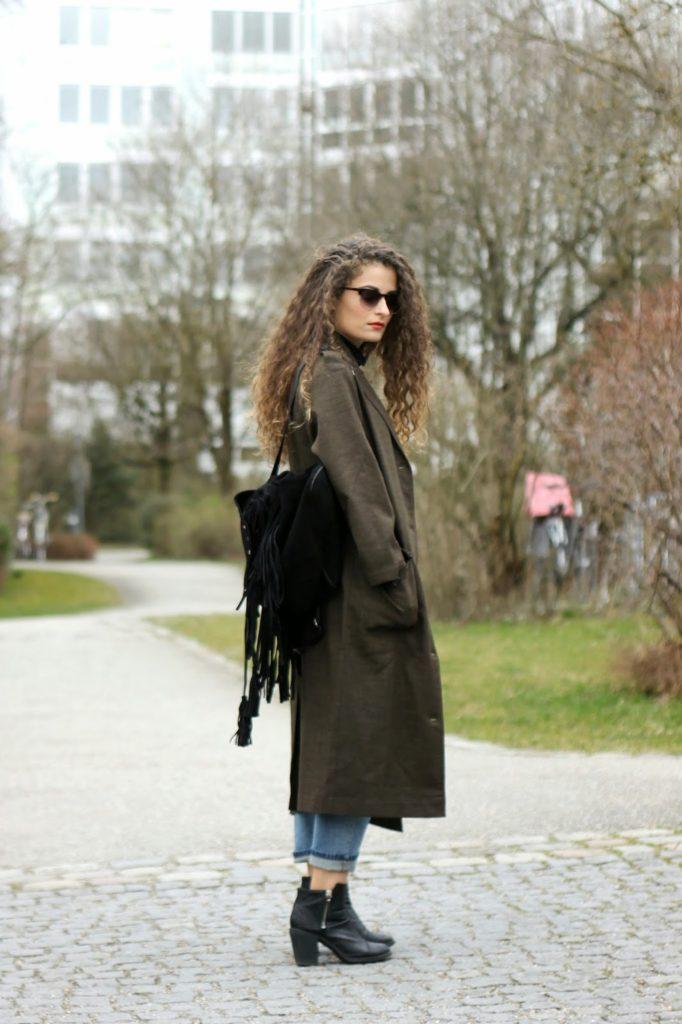 Military style maxi blazer