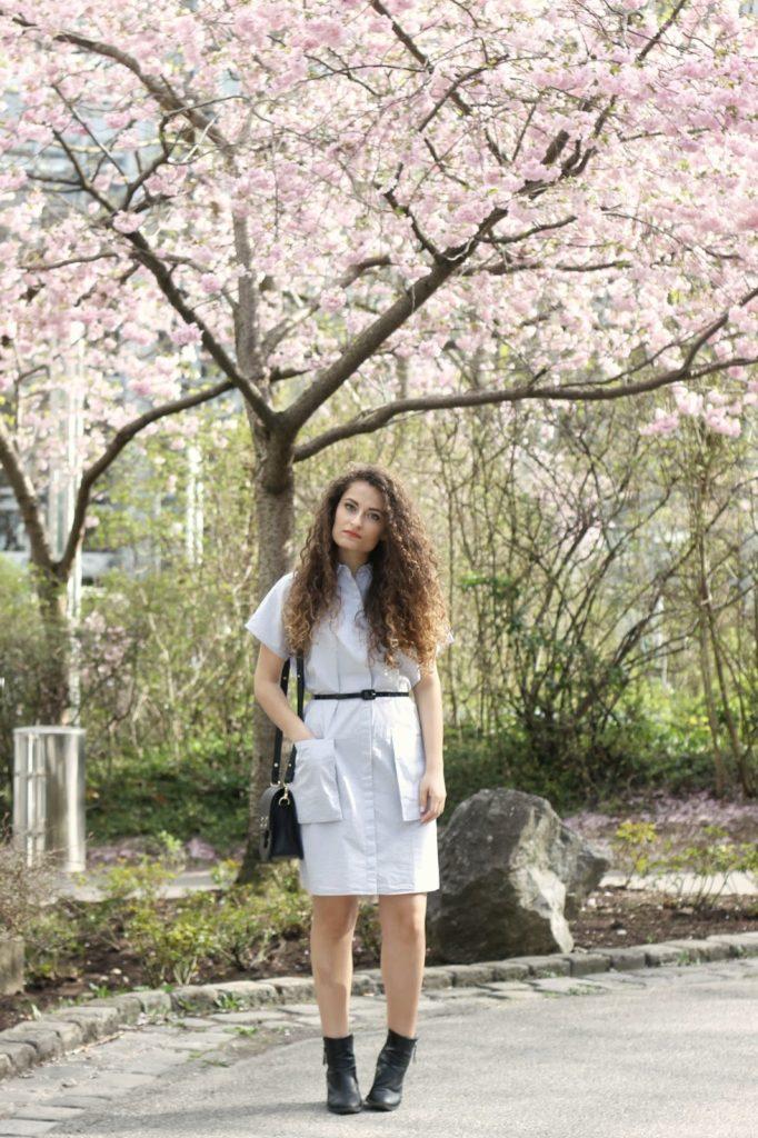 Shirtdress in spring