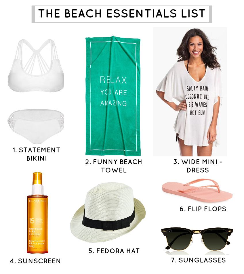 7 beach essentials
