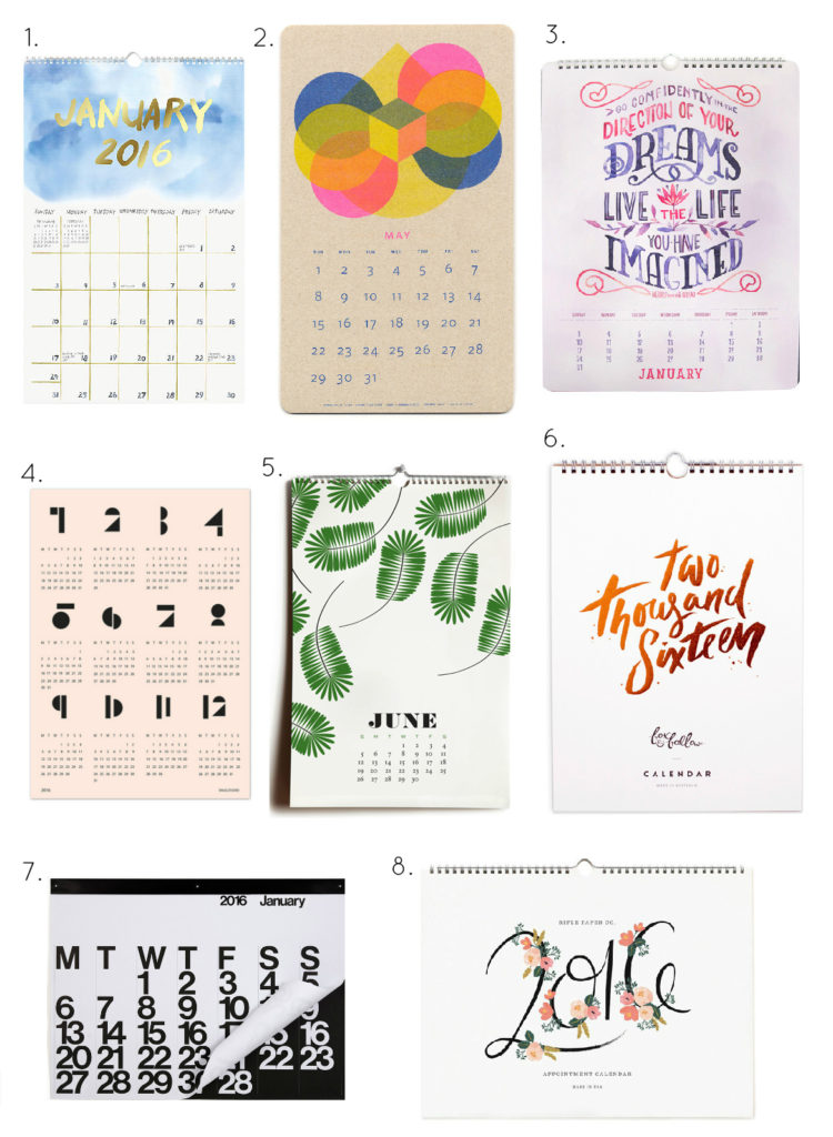 The best calendars for 2016