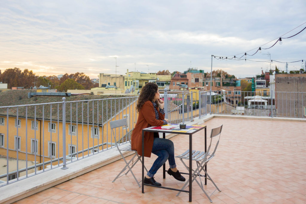 Scenic view in Rome: Rarity Suites roof terrace