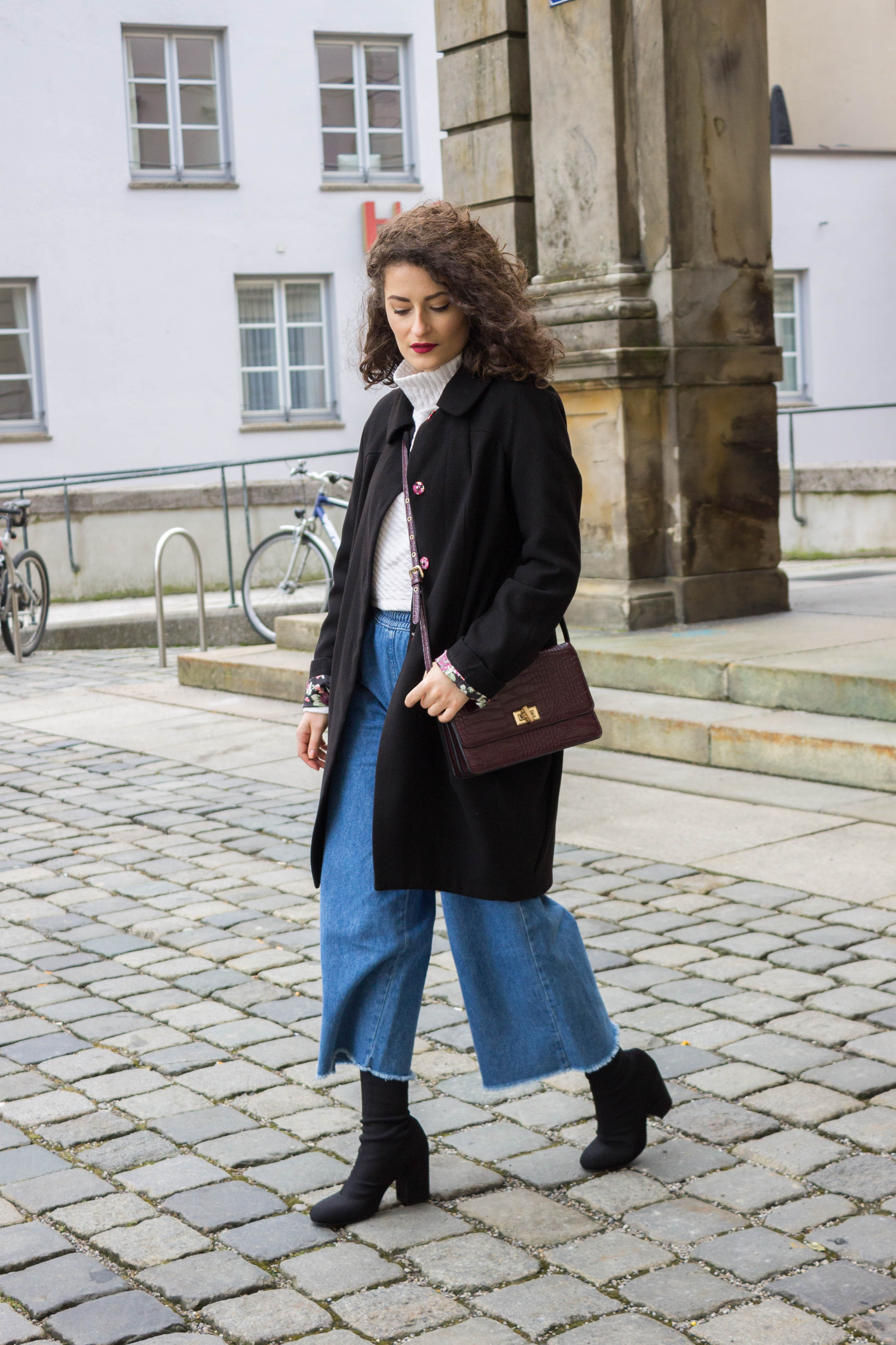 How to wide wear leg denim trousers recommendations to wear for winter in 2019
